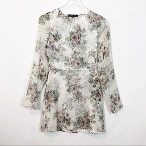 For Love & Lemons Pure Floral Mini Dress XS